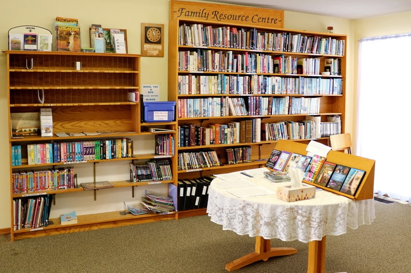 Family Resource Centre filled with books, dvds and information